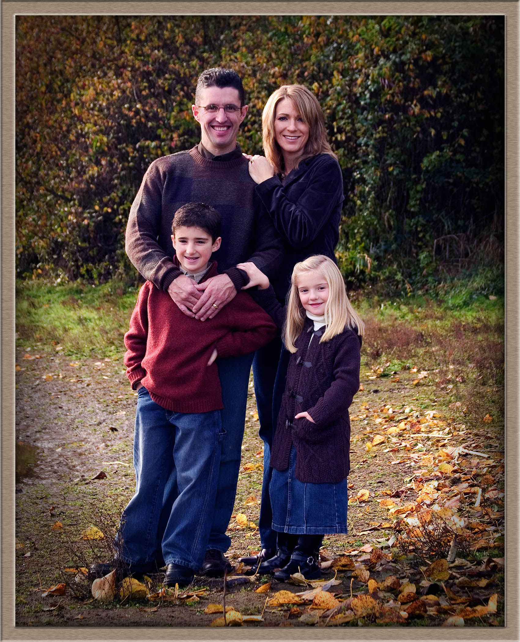 Oregon Fall Family Outdoor Photograpy In West Linn
