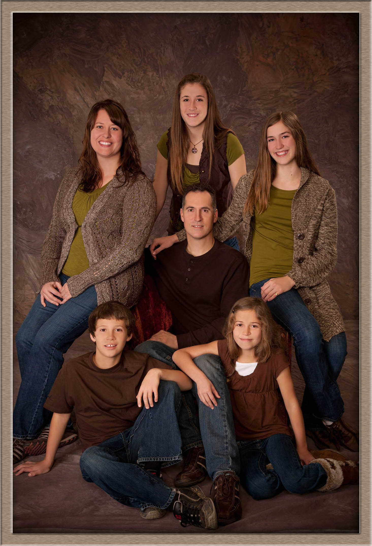 Oregon family studio portrait