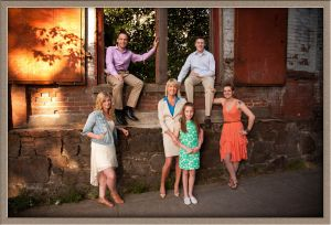 Family Portrait Taken in the Pearl District of Portland Oregon by Ollar Photography