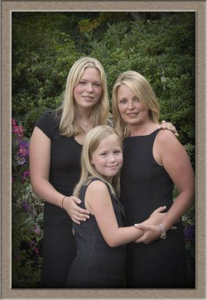 Mother and Daughter Studio Portrait in Lake Oswego, Oregon