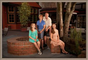 West Linn Family Outside Ollar Portrait Photography Studio in Lake Oswego, Oregon