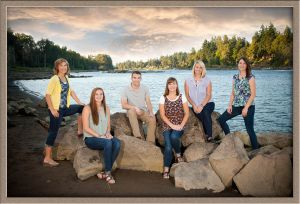 Brothers and Sisters Portrait Outdoors in Portland South Metro Area by Ollar Photography