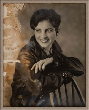 Before Extensive Digital Photo Restoration of Female Studio Portrait