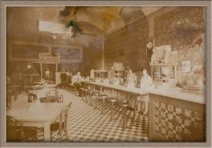 Before Extensive Digital Photo Restoration of Lunch Counter Photo