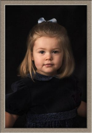 Classic Studio Portrait of Little Girl, Lake Oswego, Oregon