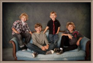 Couture Brothers in Portrait Taken in Lake Oswego, Oregon Studio