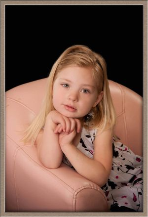 Cute Girl in Photographic Portrait Studio Located in Lake Oswego, Oregon