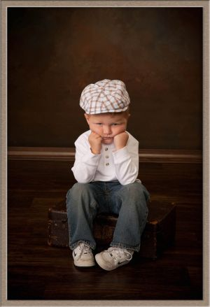 Cute Little Boy in Portrait Studio in Lake Oswego, Oregon