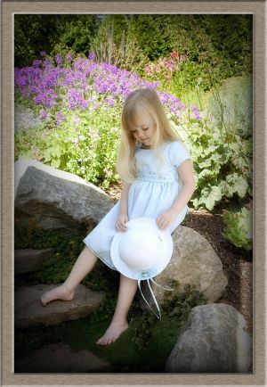 Little Girl with Wild Flowers Portrait Shot in West Linn, Oregon