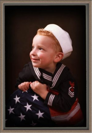 Navy Boy in Portrait Photography Studio in Lake Oswego, Oregon