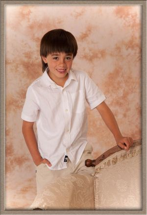 Young Man in Portrait Photography Studio, Lake Oswego, Oregon
