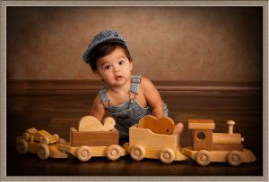 Baby Boy from Oregon City with Choo Choo Train