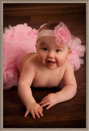 Cute Couture Baby Photography Portrait in Lake Oswego, Oregon