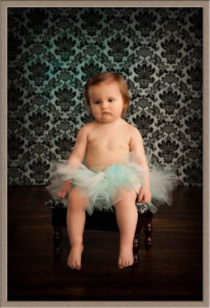 Portland Ballerina Baby in Tutu at Ollar Photography Portrait Studio