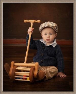 Toddler with Toy in Lake Oswego, Oregon Photography Studio