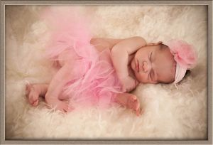 Cute Baby Girl in Pink Tutu Portrait
