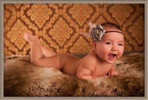 Baby on a Bear Skin Image at Ollar Photography Portrait Studio