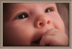 Ethereal Baby Face Portrait