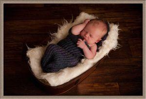 Swaddled Baby Portrait