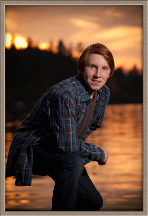 High School Senior Portrait at Oswego Lake Lake Oswego, Oregon