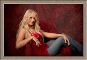 Lakeridge High School Blonde Senior in Studio