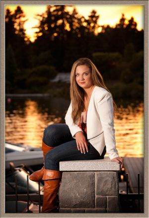 Oregon City High School Senior Photography Session on Oswego Lake