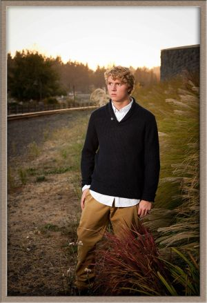 Outdoor Portrait of Lakeridge High School Senior Boy