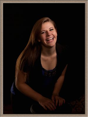 Tigard High School Senior Portrait in the Portrait Studio