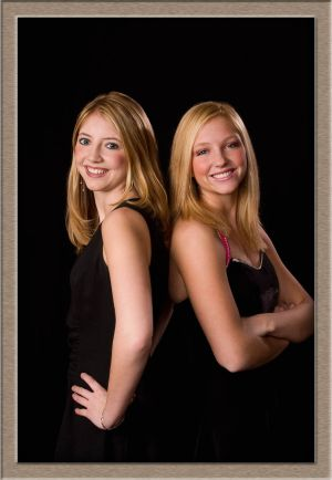 West Linn High School Senior Portrait of Sisters